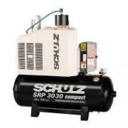 Compressor de Rotativo Parafuso SCHULZ - SRP 3030/500 - 500litros - 109 lbf - 124 pés - 30HP - 220/380V Trifásico