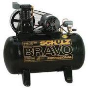 Compressor SCHULZ CSL10BR/100 - 10 pés -  100 litros - 140 libras - monofásico