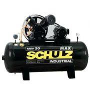 Compressor SCHULZ MSV20MAX/250 - 20 pés - 250 litros - 175 libras - trifásico