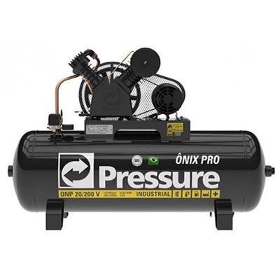 Compressor PRESSURE ONIX - ONP20/200 -  20 pés - 200 litros - 175 libras - trifásico