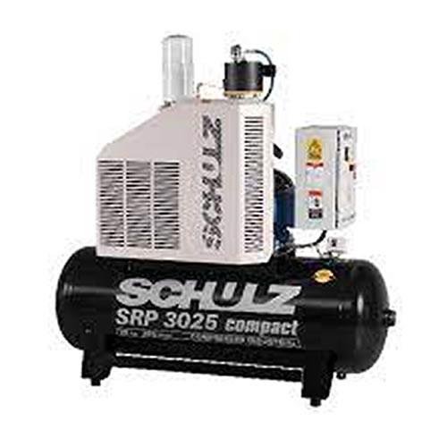 Compressor  Rotativo Parafuso SCHULZ SRP3025/250  25 HP - 250 Litros SRP - 109 lbf - 102 pés - 220/380V Trifásico