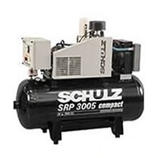 Compressor Rotativo Parafuso - SCHULZ - SRP 3005-200- 200 litros - 130,5 lbf - 16,6 pés³min- 5HP - 220/380 trifásico
