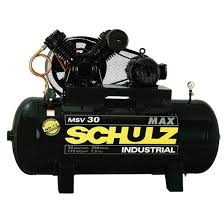 Compressor SCHULZ MSV30/350 -  30 pés - 350 litros - 175 libras - trifásico