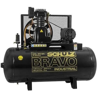 Compressor SCHULZ CSL20BR/200 -  20 pés -  200 litros - 175 libras - trifásico