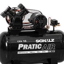 Compressor SCHULZ CSV10/100 PraticAir - 10 pés - 100 litros - monofásico