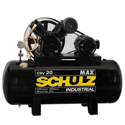Compressor SCHULZ CSV20/200  -  20 pés - 200 litros - 175 libras - trifásico
