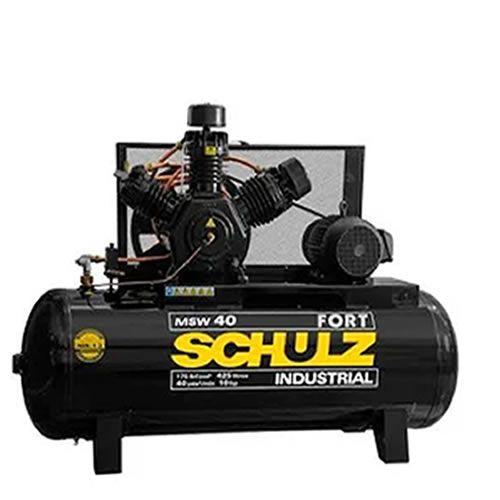 Compressor SCHULZ MSW40FORT/425 - 40 pés - 425 litros - 175 libras - trifásico