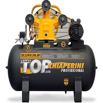 Compressor Top 15 MP3V 150 Litros Motor 3Hp Monofásico o CHIAPERINI-TOP15TRI