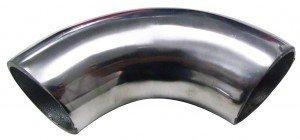 Cano curva Aluminio Reduzido Aluminio 90º 60 mm Extermo