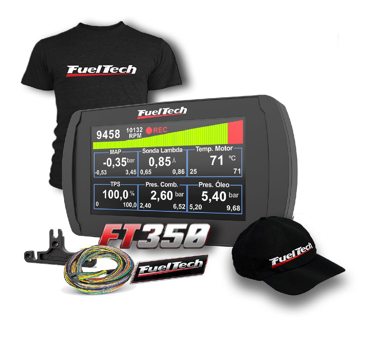 Fueltech FT 350 + camiseta  + bone