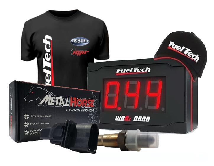 Fueltech Wide Band Nano Com Sonda da Metal Horse