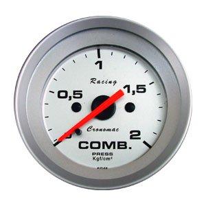 Relogio pressao Manometro Combustivel Cronomac Linha Racing