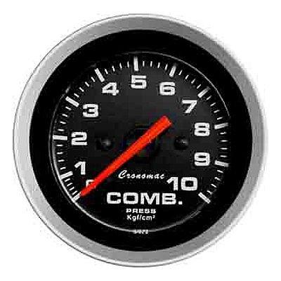 Relogio pressao Manometro Combustivel Cronomac Linha Sport