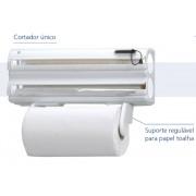 Porta-Rolos Clean 5x1 Branco com Extensor