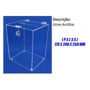 Urna Acrílica Modelo Cubo Médio 18x20x26 cm