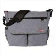 BOLSA MATERNIDADE - DIAPER BAG - DASH SIGNATURE HEATHER GREY SKIP HOP