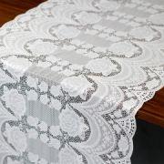 Caminho de mesa plastico renda Lilian