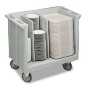 Carrinho transporte ajustável para pratos e bandejas Cambro