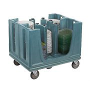 Carrinho transporte ajustável para pratos e bandejas Cambro ADC33 - AZUL ARDÓSIA