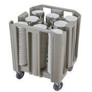 Carrinho transporte ajustável para pratos e bandejas Cambro ADCSPC8PKG - 8 divisórias