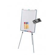 Cavalete Flip chart Porta Bloco Quadro Branco MAGNÉTICO OFFICE STALO R9451 + 3 MARCADORES para quadro branco + APAGADOR PORTA CANETA
