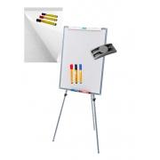 Cavalete Flip chart Porta Bloco Quadro Branco MAGNÉTICO OFFICE STALO R9451 + BLOCO + 3 MARCADORES para quadro branco + 3 MARCADOR PERMANENTE + APAGADOR PORTA CANETA