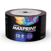 CD-R MAXPRINT 700Mb 80 MIN COM LOGO 52X BULK COM 50 UNIDADES