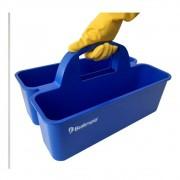 Cesto Organizador Funcional De Produto De Limpeza Bralimpia Azul