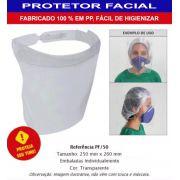 CONJ 10 Máscara Proteção Facial Anti Respingos Transparente