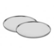 Conj. 2 Forma Assadeira Para Pizza Brotinho Em Alumínio 15 Cm