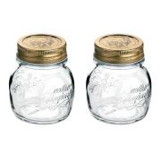 Conj 2 Potes de Vidro Quattro Stagioni 150 ml  Para Conservas e Afins COM Tampa Original