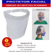 CONJ 4 Máscara Proteção Facial Anti Respingos Transparente
