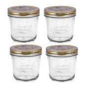 Conj 4 Potes de Vidro Quattro Stagioni 320 ml Para Conservas e Afins COM Tampa Original