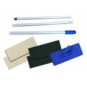 Conjunto Suporte Limpa Tudo Suporte LT de Rosca Azul + Cabo 3 Estágios + 2 Fibra Limpeza Leve + 2 Fibra Limpeza Pesada
