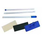 Conjunto Suporte Limpa Tudo Suporte LT de Rosca Azul + Cabo 3 Estágios + 1 Fibra Limpeza Leve + 1 Fibra Limpeza Pesada