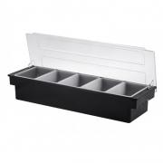 Dispenser Porta Condimentos Ingredientes Bartender 5 Compartimentos 50 x 16 x 12 cm