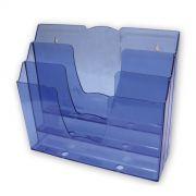 Display Organizador Triplo Mesa ou Parede Azul - 7302