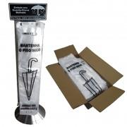 Embalador de Guarda-Chuva Em INOX Para PISO Clean + Refis Saco Embalador COM Gravação COM 1000 Unidades