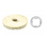 Escova de PELO 410 mm COM Flange Para Enceradeira CERTEC, Mebal e Lemarte Entre Outras