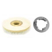 Escova Em NYLON 300 mm COM Flange Para Enceradeira BRALIMPIA, Romher, Eletrolux, Deep Clean, Fort Clean, Starmix