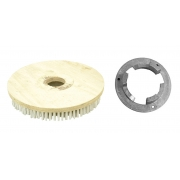 Escova Em NYLON 510 mm COM Flange Para Enceradeira BRALIMPIA, Romher, Eletrolux, Deep Clean, Fort Clean, Starmix