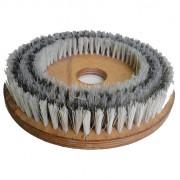 Escova Mista Aço e NYLON 380 mm COM Flange Para Enceradeira CLEANER. Allclean e Bandeirantes Entre Outras