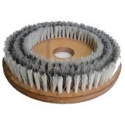 Escova Mista Aço e NYLON 350 mm COM Flange Para Enceradeira CLEANER. Allclean e Bandeirantes Entre Outras