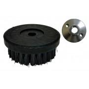 Escova para lavar base plástica 120 mm cerdas grossas pretas 0,30 mm COM FLANGE