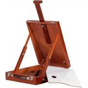 Estojo Cavalete de Pintura Da Vinci Pinus cor Mogno - Souza R - 4215