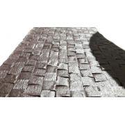 Jogo Americano PVC flanelado textura imitando couro trançado Marrom cj com 4