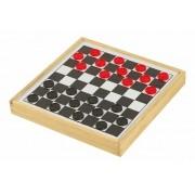 Jogo de Damas e Trilha Fundo Branco e PRETO R-7038