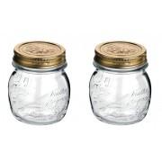 Conj 2 Potes de Vidro Quattro Stagioni 250 ml  Para Conservas e Afins COM Tampa Original