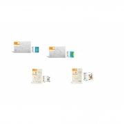 Kit 4 Telas de Pintura Em Algodão Riscada 20 x 30 cm - 1 Tubarão 8173 + 1 Tartaruga 8172 + 1 Menino 8154 + 1 Menina 8153 - SOUZA