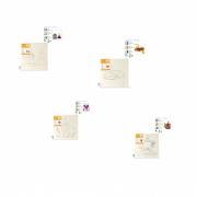 Kit 4 Telas de Pintura Em Algodão Riscada 30 x 30 cm - 1 Barco 8160 + 1 Borboleta 8157 + 1 Carro Vermelho 8158 + 1 Castelo 8159 - SOUZA
